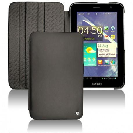 Samsung gt p6200 galaxy tab 7 0 plus leather case for Housse galaxy tab e