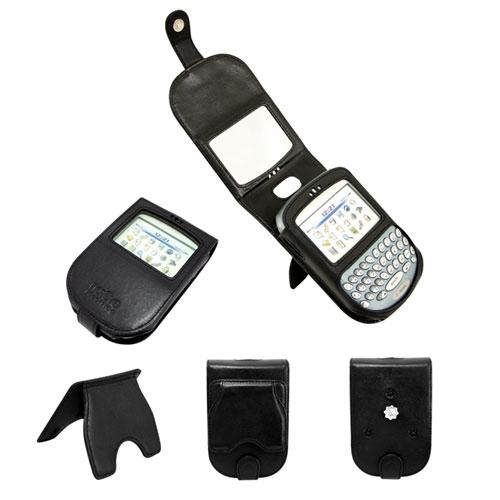 Etui cuir BlackBerry 7290 - 7270 - 7250  - Noir ( Nappa - Black )