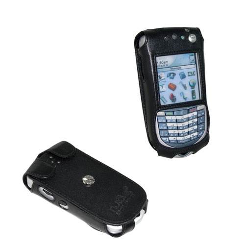 Etui cuir BlackBerry 7100i  - Noir ( Nappa - Black )