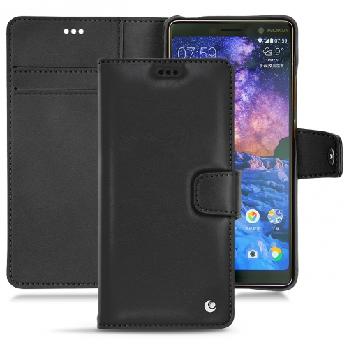 1336983b6e44b Nokia 7 Plus leather case and cover