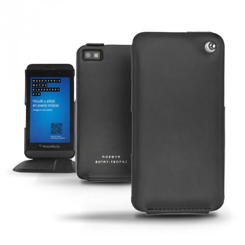 Housse cuir BlackBerry Z10  - Noir ( Nappa - Black )