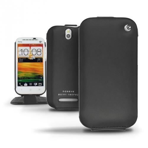 Housse cuir HTC One SV  - Noir ( Nappa - Black )