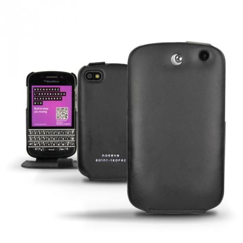 Housse cuir BlackBerry Q10  - Noir ( Nappa - Black )