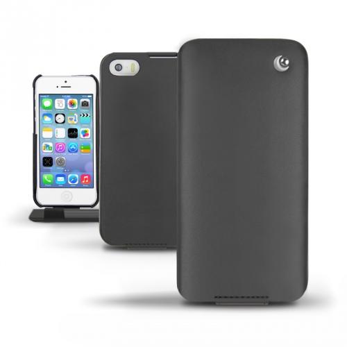 Housse cuir Apple iPhone 5S  - Noir ( Nappa - Black )