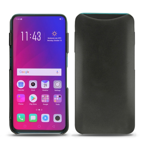 sports shoes 24bc3 8d4bb Oppo Find X leather covers and cases