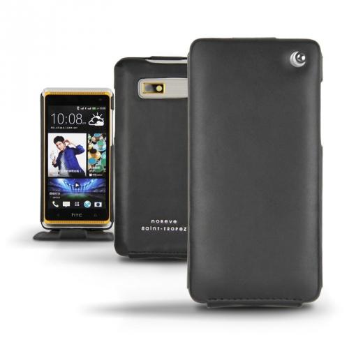Housse cuir HTC Desire 600  - Noir ( Nappa - Black )