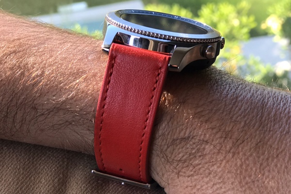 Bracelet en cuir pour montre connectée - 22mm – Griffe 1