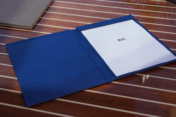 Hotel document folder