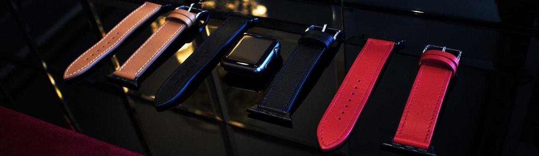 Bracelete em couro para relógio Apple Watch - Griffe 1